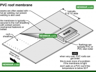0101 PVC Roof Membrane - Flat Roofing - Plastic Roofing PVC Thermoplastic