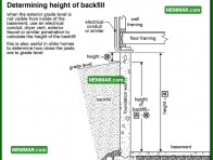 0251 Determining Height of Backfill - Structure Structural Foundation - Problems