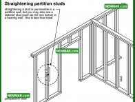0385 Straightening Partition Studs - Wall Systems - Wood Frame Walls